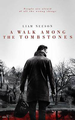 A Walk Among the Grabsteine ORIGINAL FILM Plakat - zweiseitig Advance- Neeson