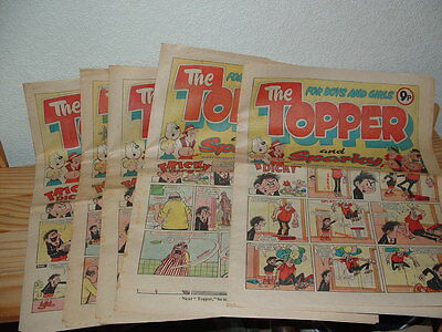 5 Topper And Sparky   Comics 1979 Consecutive Issues 1400-1404 Inc. Xmas Issues