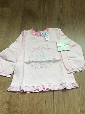 Disney Princess Top Long Sleeved Aged 9-12 Months NEW