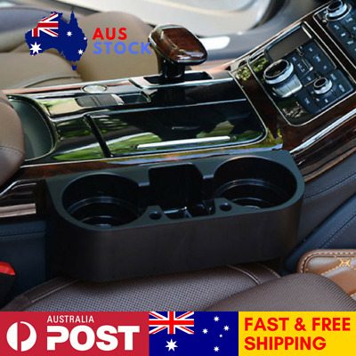Car Interior Cup Holder 2 Drinks And Storage Space Convenient Aust Stock