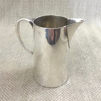 Art Deco Silver Plated Creamer Jug Simple Bauhaus Style