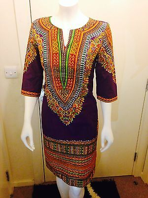 African Print Dresses  sizes 10,12,16&18100%cotton,Dashiki,and United Kingdom