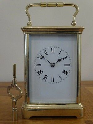 Fine antique French striking carriage clock - fully restored 04/17