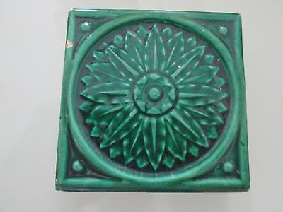 Vintage Decorative Green Fireplace Tile 3 X 3