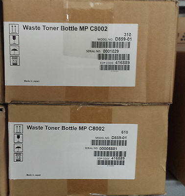 2 x Ricoh Waste Toner Bottle Typ MPC8002 (416889)