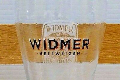 2 Two WIDMER BREWING logo Beer Glasses pint keg draft FREE SHIPPING