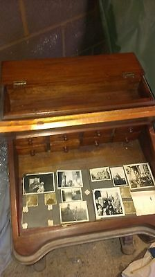 Very pretty reproduction antique continental hardwood davenport writing desk