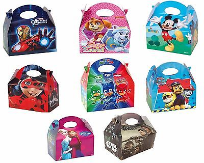 Marvel Avengers/Paw Patrol/PJ Masks Character Food Loot Party Treat Bag Boxes