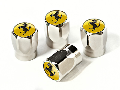 Ferrari Tire Valve Hexagonal Caps - Yellow PN 70002212