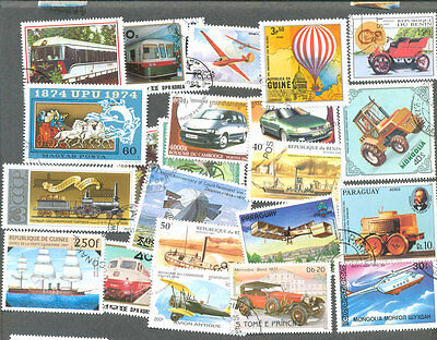 Transport on stamps 200 all different collection all types