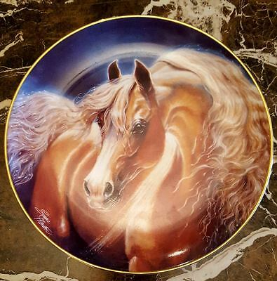 Horse Collector Plate Palomino Gold