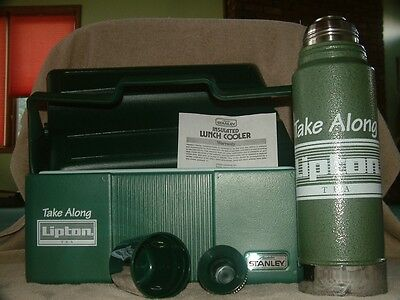 "ALADDIN STANLEY THERMOS / LUNCHBOX COMBO - ""Lipton Tea Edition"" - **NEW**"