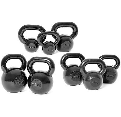 BodyPower™ Cast Iron Commercial KettleBell Weight Sets- 4kg-32kg (3 Set Options)