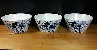 set of 3 new cereal bowl plates royal doulton pacific splash porcelain