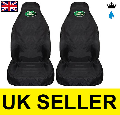Land Rover Premium Car Seat Covers Protectors / Black - Discovery 2