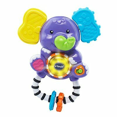 Shake Sing Elephant Rattle Ring Music Sound Teethe Sooth Gum Baby Play Toy Multi