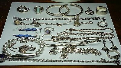 HALLMARKED 925 STERLING SILVER LOT OF JEWELLERY, SOME STONES,NOT SCRAP, 113.2g
