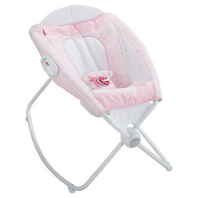 Fisher-Price Newborn ROCK N PLAY SLEEPER Vibrates PINK Portable Baby Bed