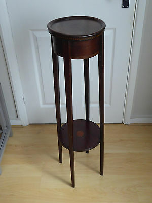 Antique wooden two tier plant stand