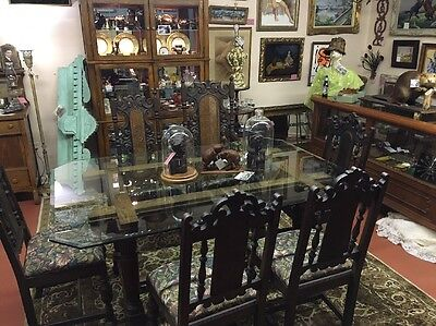 1920's Spanish California Table W/6 Chairs