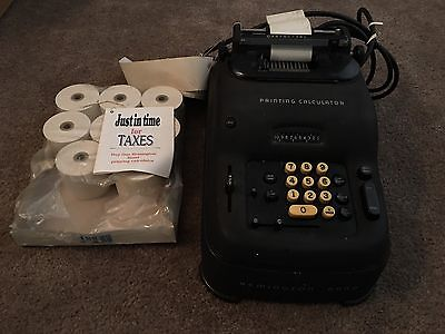 Rare 1955 Vintage Remington Rand Electric Adding Machine Calculator Calculator