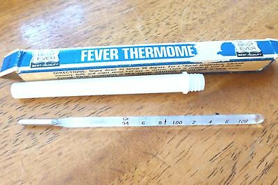 """Vintage ORAL Fever Thermometer Japan with case and Box """"BEST EVER"""" Accurate"""
