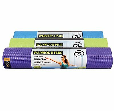 Yoga-Mad Warrior 11 6mm 6ft Yoga Mat Plus - also ideal Floor Mat for Pilates