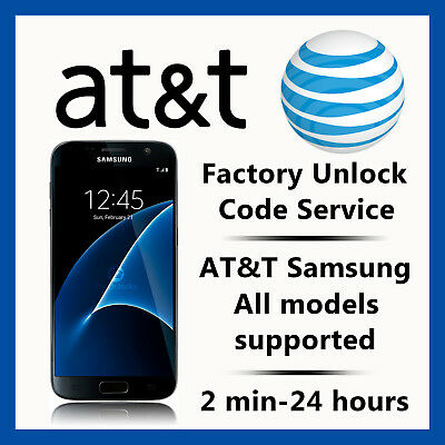 At&t Unlock Code Service For Samsung Galaxy S2,s3,s4,s5,s6,s7 Note 3,4,5 Active