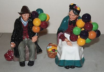 NICE Royal Doulton #HN1954 THE BALLOON MAN & #HN1315 THE OLD BALLOON LADY SELLER