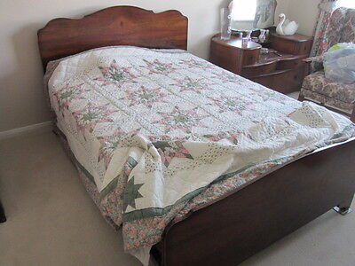 Walnut 1950's  4'6 double bed