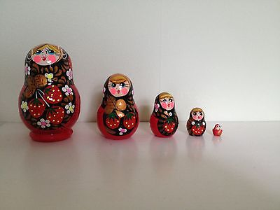 5 Piece Nesting Dolls Girls Russian Doll Matryoshka