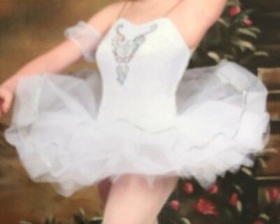 Wolf Fording & Company White & Silver Ballet Dance Costume Adult Size Large Clea