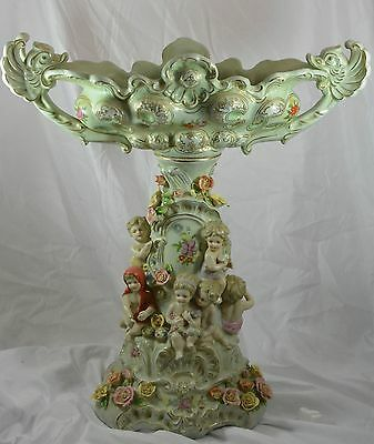 European porcelain centerpiece ~ 17 inches tall and 17 inches wide