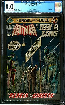 The Brave And The Bold 94 Cgc 8.0-Teen Titans-Batman-Nick Cardy-Dc