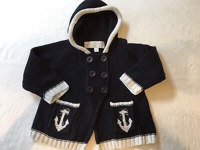 Powell Craft hooded designer baby coat, 6 - 12 months, not Trotters