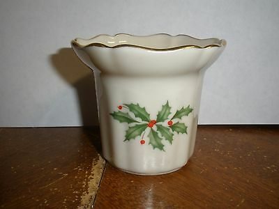 Lenox China Holiday Nouveau Votive Candle Ivory with Gold Accents