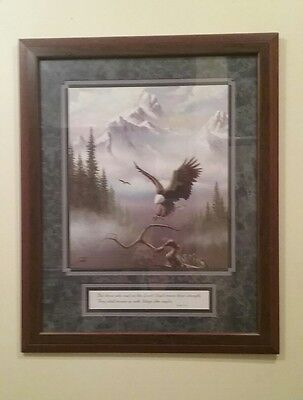 Home Interior Isaiah 40:31 Soaring Eagle Framed & Matted Picture (GUC)