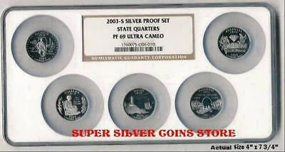 2003 Silver State Quarters Set NGC PF69 UC in MULTI=COIN HOLDER