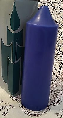 PartyLite OCEAN MIST 3 x 9 Bell Top Pillar Candle S3964 Colonial Royal Blue NIB