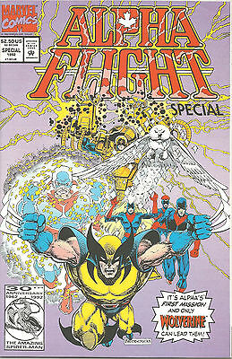 Alpha Flight Special #1 Direct Market - Wolverine - 1992 - Near Mint