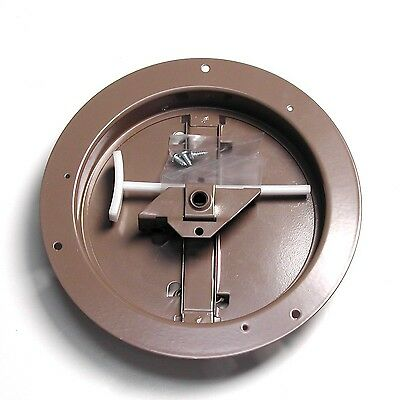 Accord ABCDBRD06 Ceiling Damper with Round Butterfly Design, 6-Inch, Brown