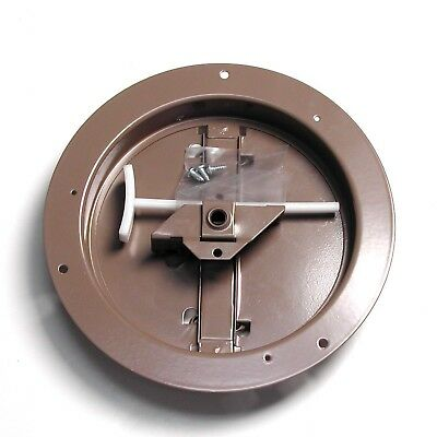 Accord ABCDBRD08 Ceiling Damper with Round Butterfly Design, 8-Inch, Brown