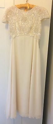Vintage wedding dress / ball gown size S