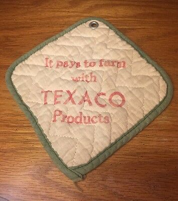 """Vintage """"It pays to Farm with TEXACO Products"""" Potholder 1950s"""