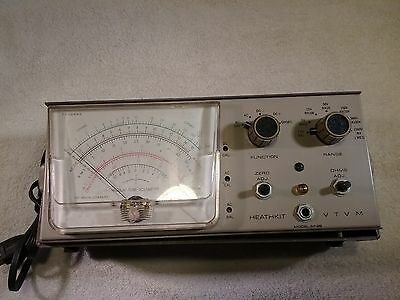 Vintage Heathkit Vacuum Tube Voltmeter VTVM Model IM-28 with Manual