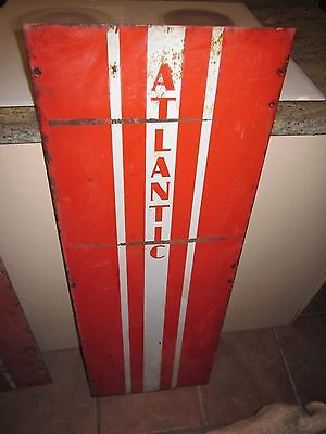 "Atlantic gas pump sign gas station 42"" X 15"" man cave garage #2"