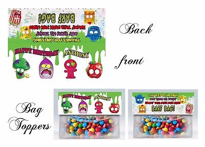 Grocery Gang, Grocery Gang favors, Birthday, Bag Toppers, invitations