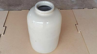 Vintage Fowler Pottery Ware Olive Jar Circa - Off White