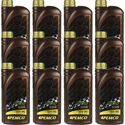 12x1 LITRE GENUINE Pemco Transmission Oil ipoid 595 75W-90 Gear Oil Oil