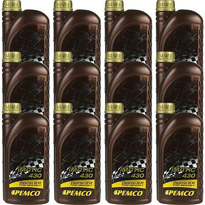 12x1 LITRE GENUINE Pemco Automatic Transmission Fluid iMatic 430 ATF DIII Gear